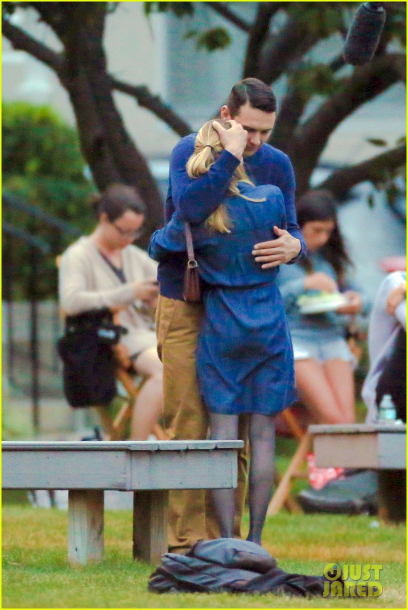 james franco emma roberts kiss park michael filming 363187031