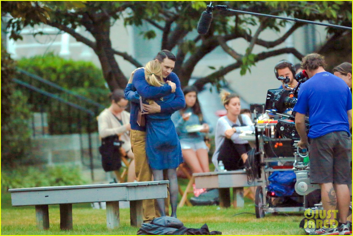 james franco emma roberts kiss park michael filming 403187035