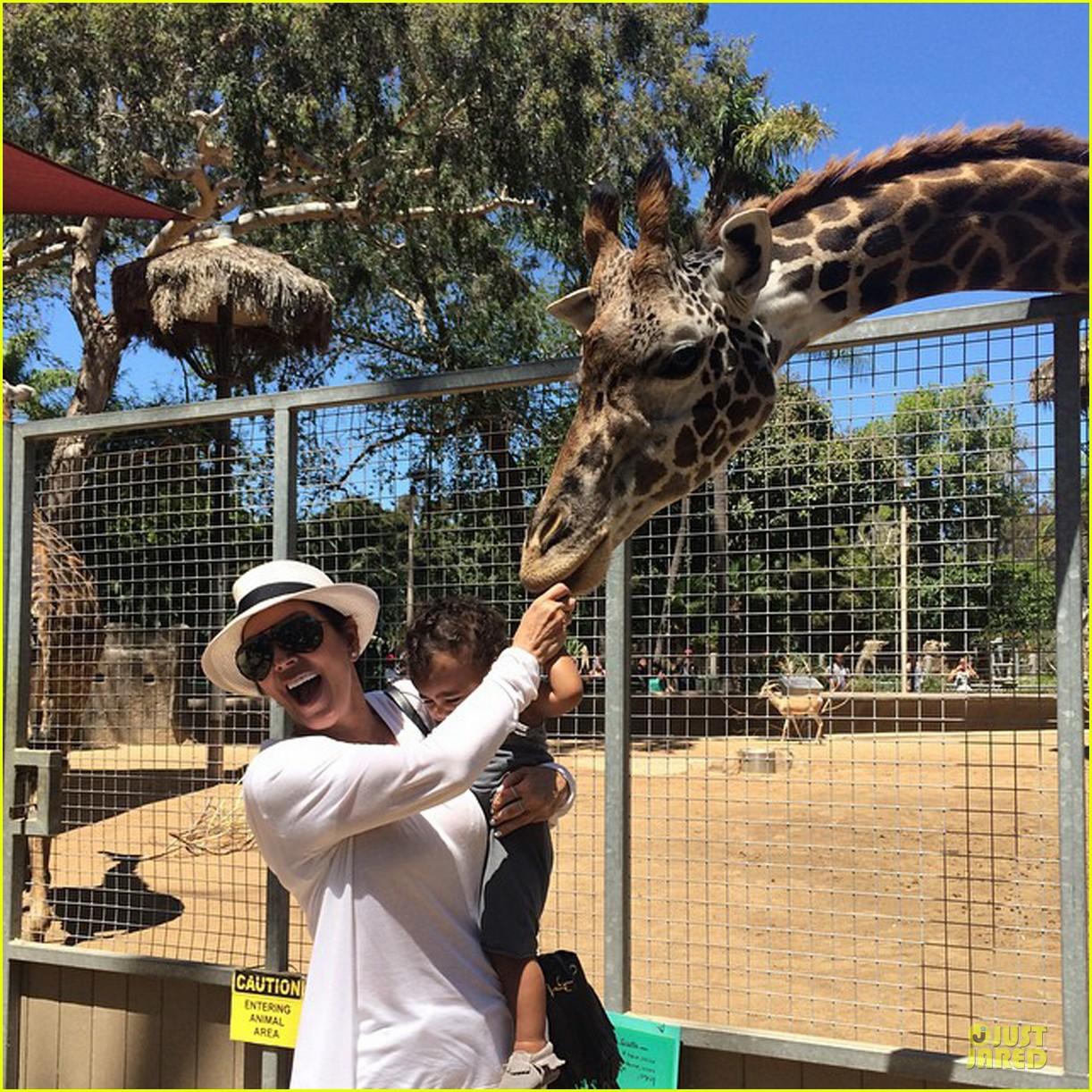 kim kardashian daughter north west feeds giraffe 053181522