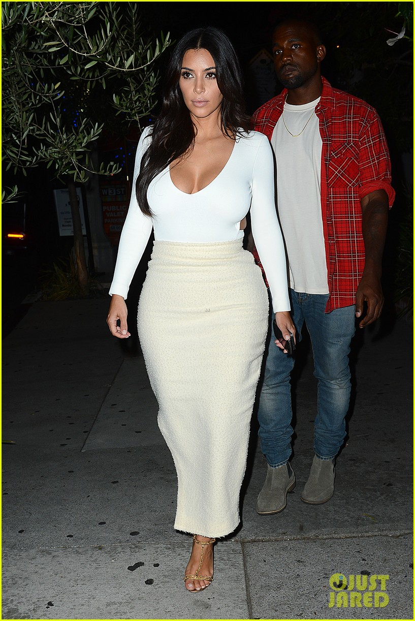 kim kardashian kanye west step out for date night 033185320