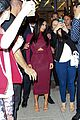 kim kardashian shows midriff in sexy dress at dinner 03