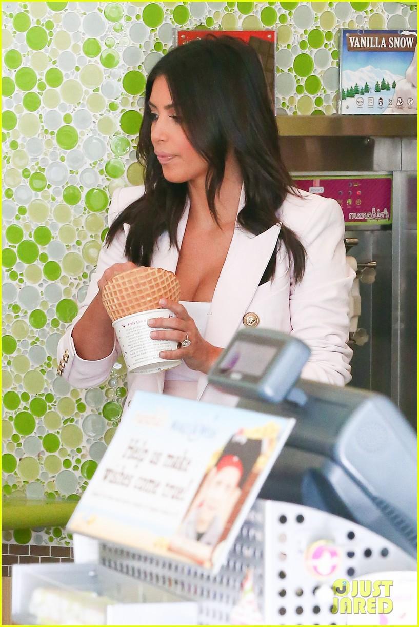 kim kardashian satisfies her sweet tooth with some fro yo 24