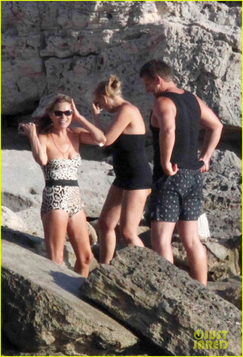 kate moss shows off body animal print bathing suit 203178077