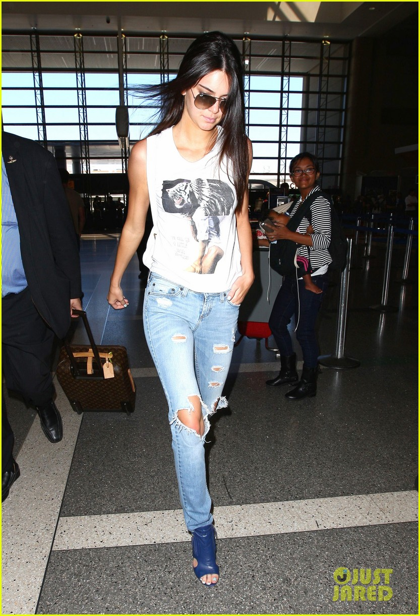 kendall jenner takes to skies after charity football game 08
