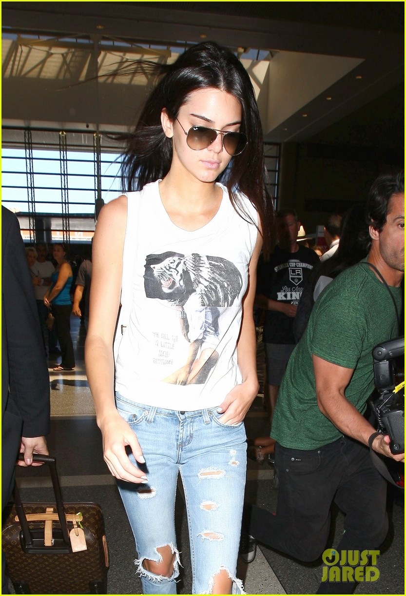 kendall jenner takes to skies after charity football game 133178395