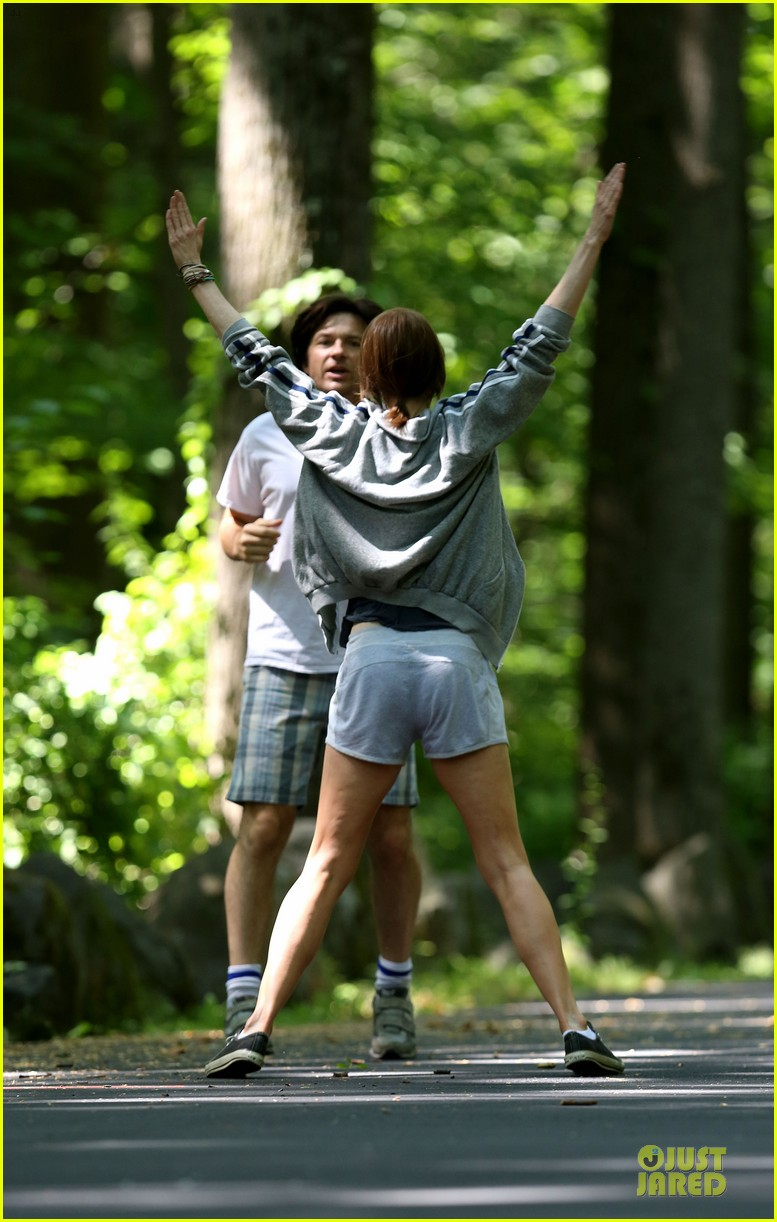 nicole kidman jason bateman hot sweaty during jog 093179235