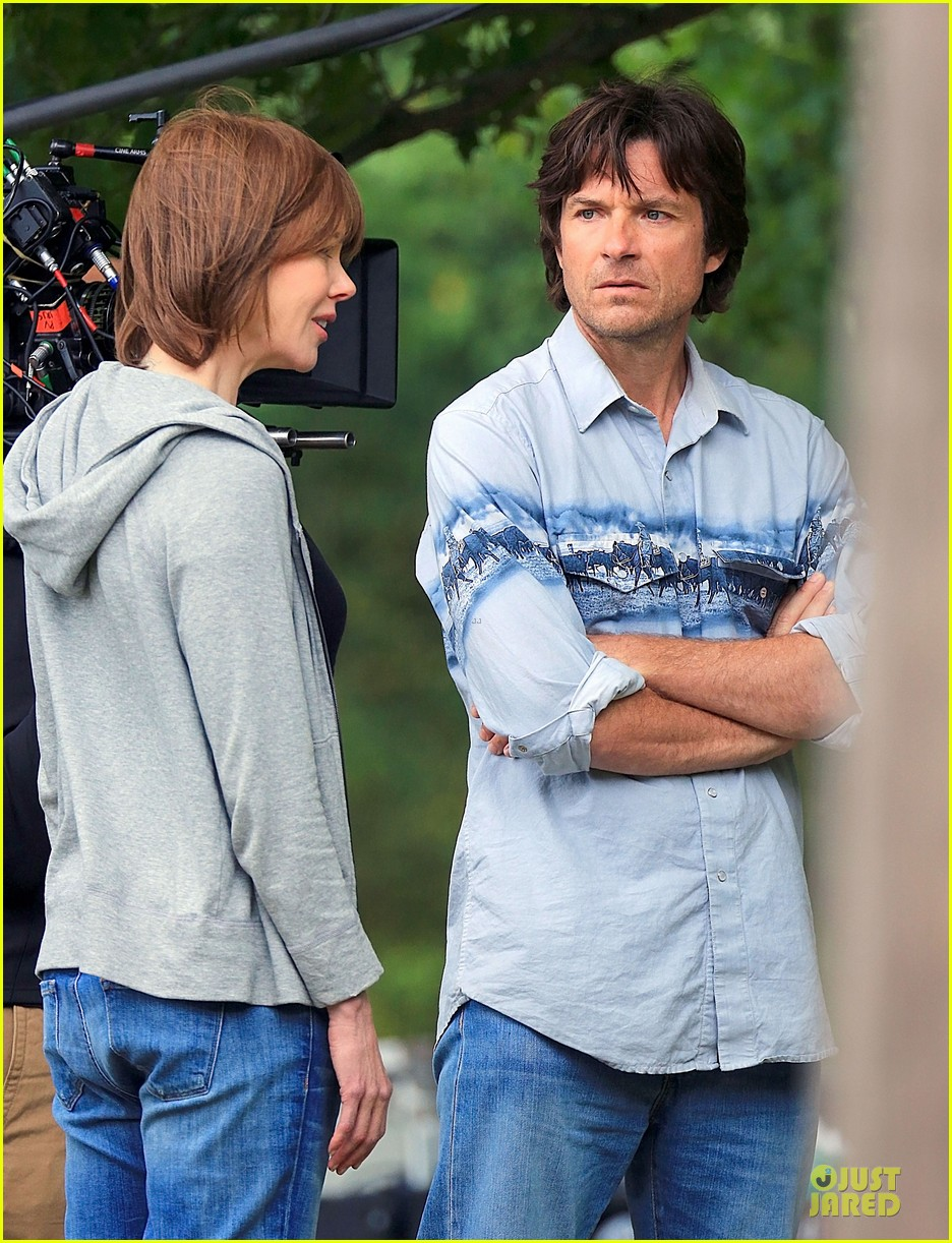 nicole kidman jason bateman wrap up week on family fang set 163177436