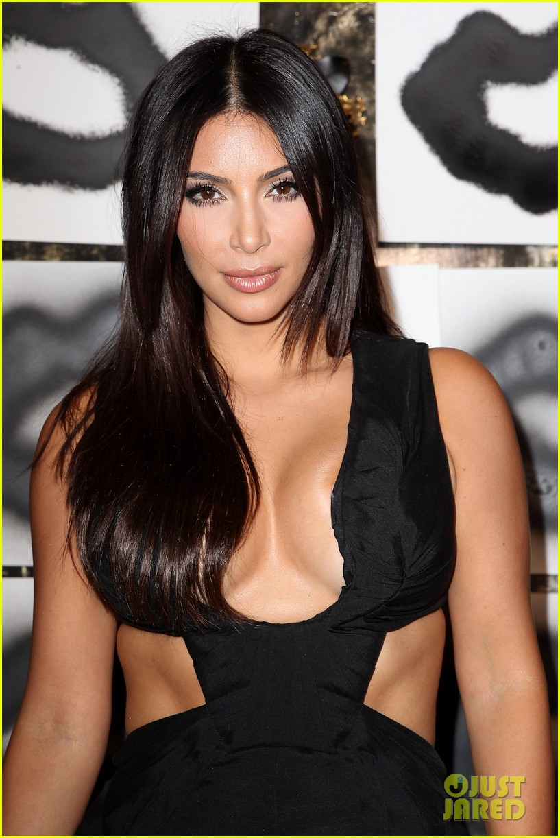 kim kardashian rocks super sexy revealing black jumpsuit 023180027