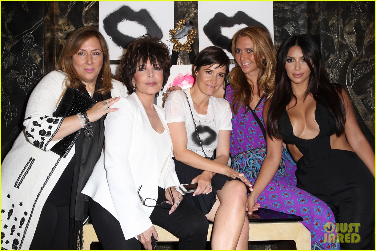 kim kardashian rocks super sexy revealing black jumpsuit 03