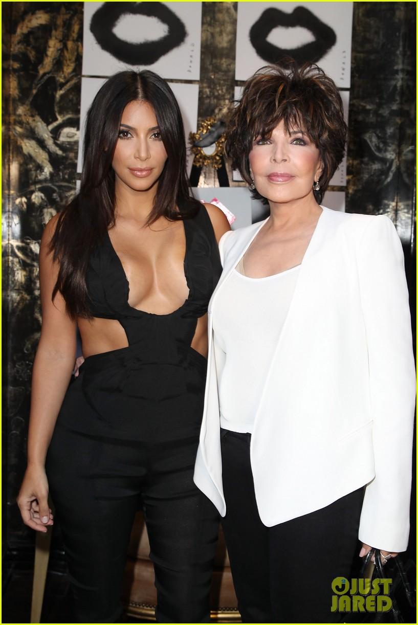 kim kardashian rocks super sexy revealing black jumpsuit 093180034