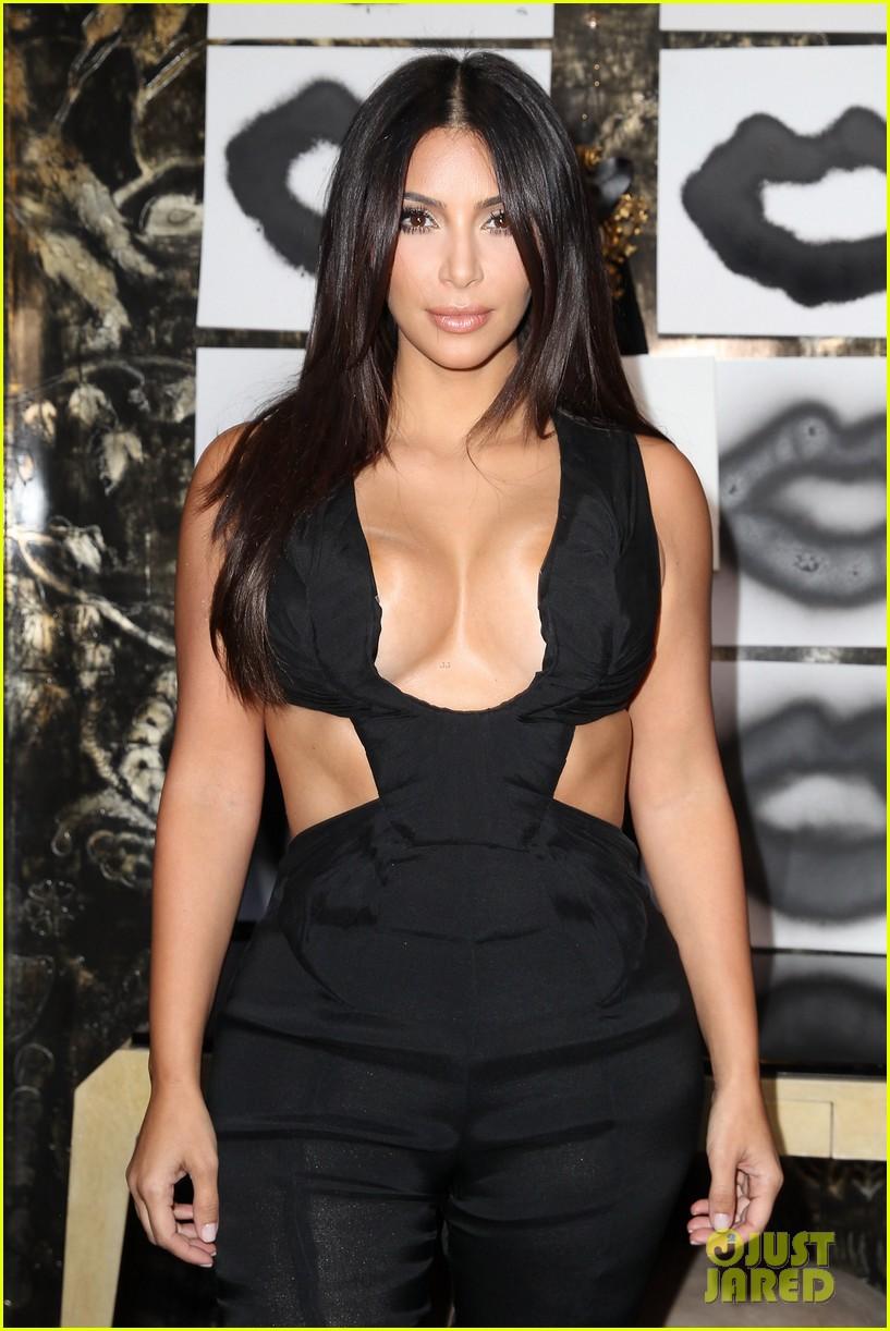 kim kardashian rocks super sexy revealing black jumpsuit 103180035