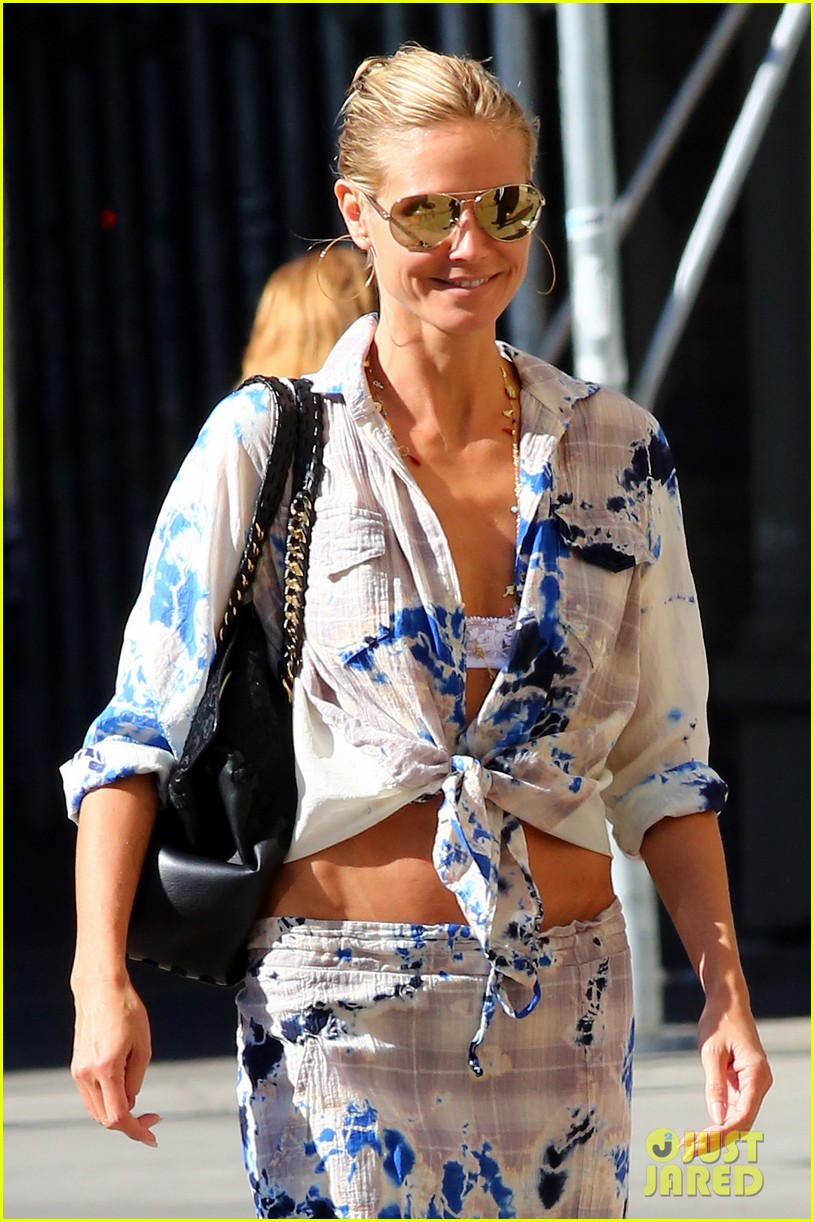 heidi klum keeps it busy in nyc before america's got talent quarter finals 133185417
