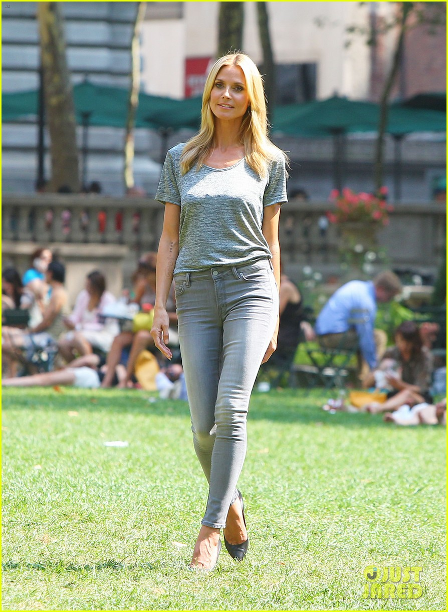 heidi klum keeps it busy in nyc before america's got talent quarter finals 163185420