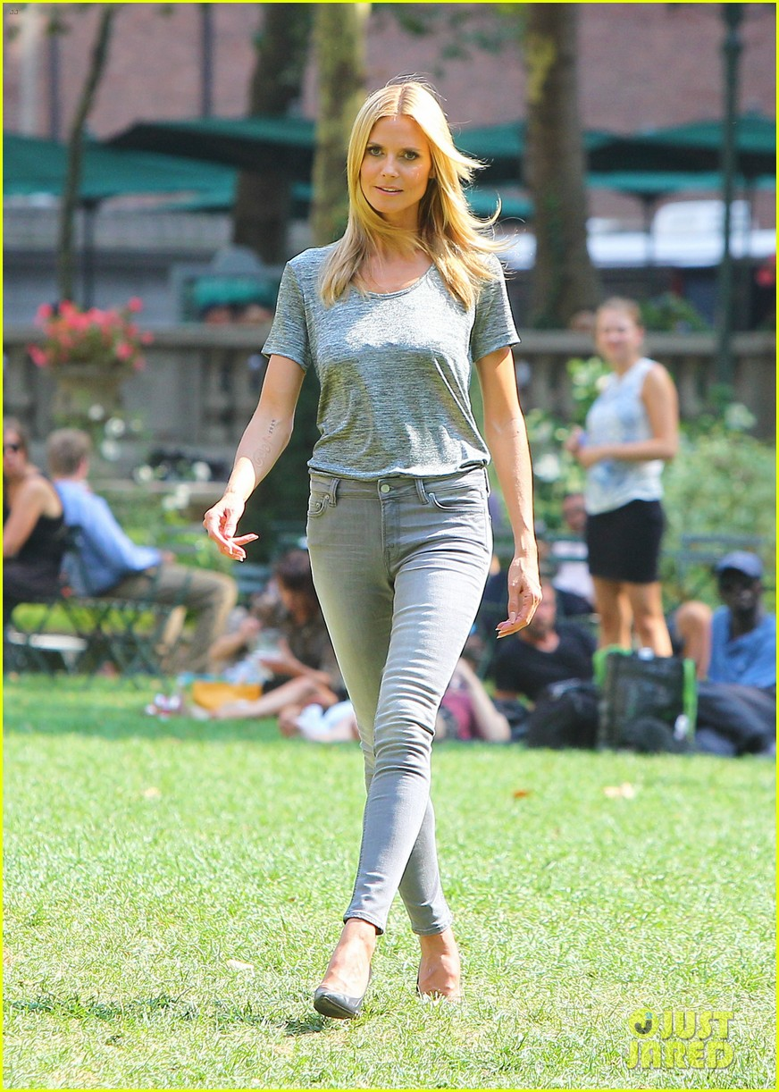 heidi klum keeps it busy in nyc before america's got talent quarter finals 193185423