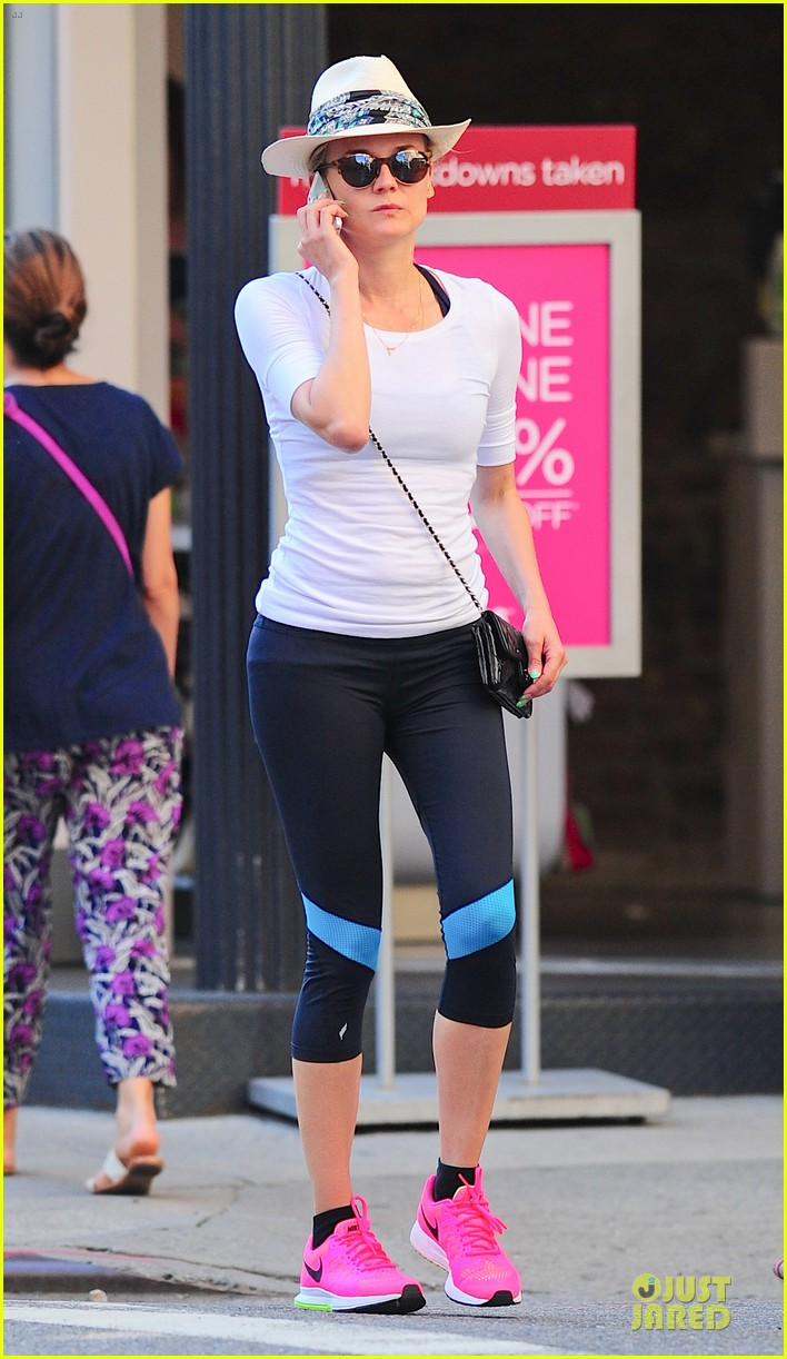 diane kruger hot pink sneakers capture our attention 093179003