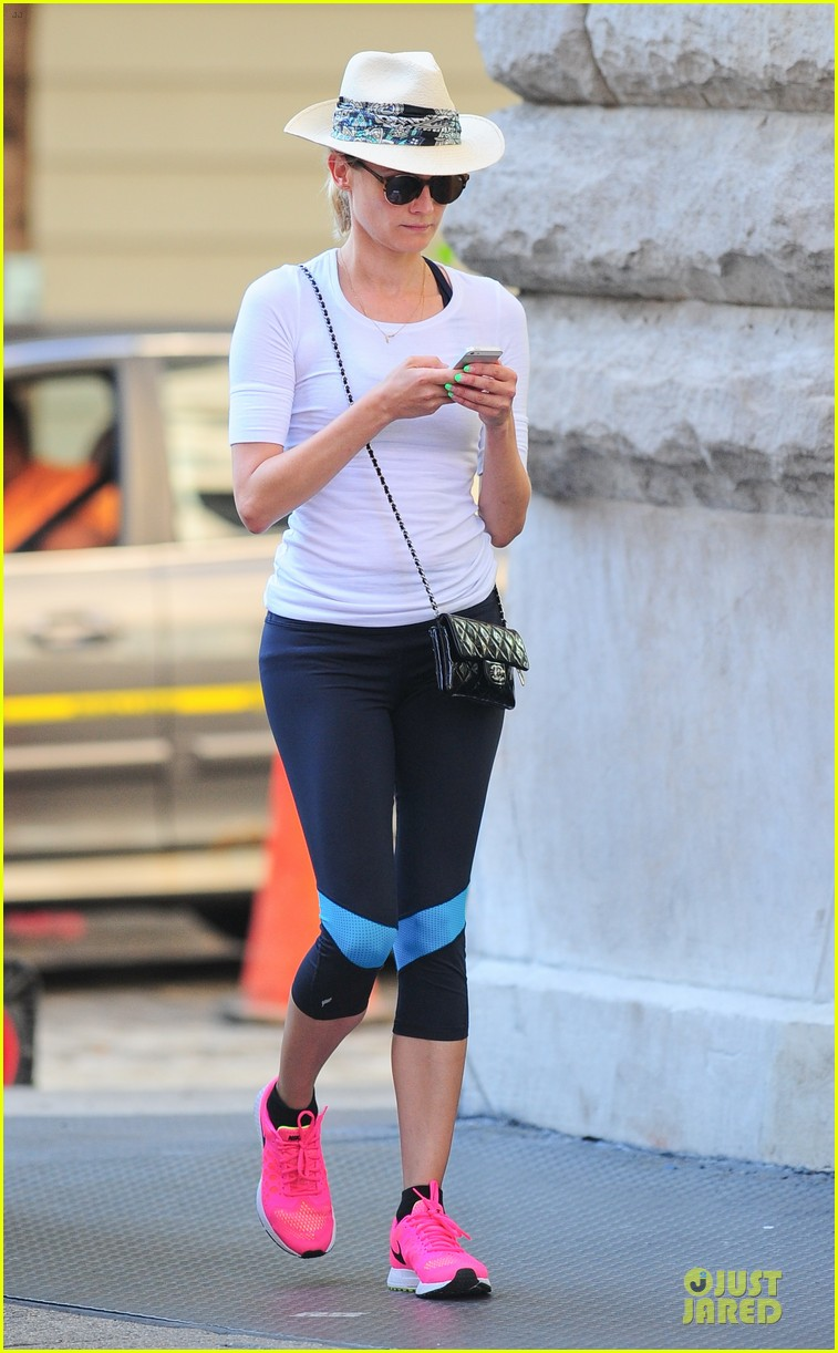 diane kruger hot pink sneakers capture our attention 143179008
