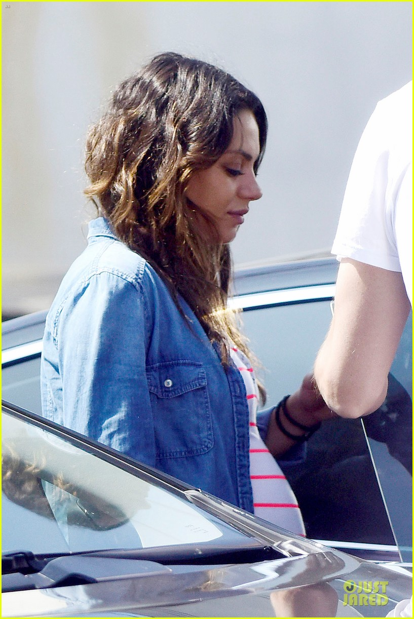 mila kunis looks ready to pop as due date approaches 193181588