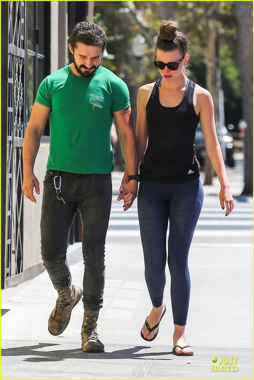 shia labeouf mia goth enjoy lunch date at granville 113181068