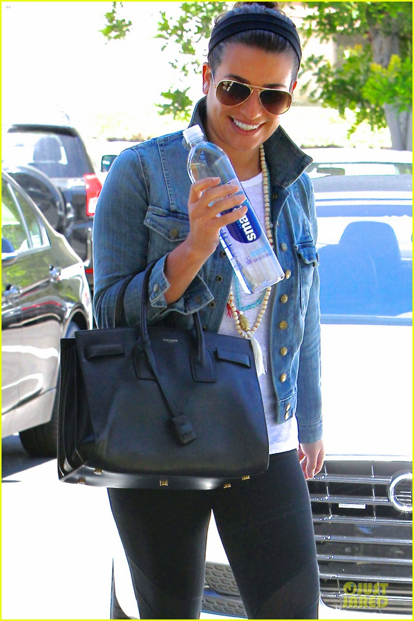 lea michele looks happy to start writing her second book 023177549