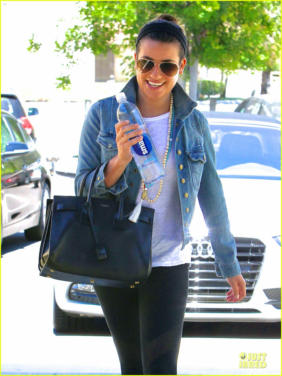 lea michele looks happy to start writing her second book 123177559