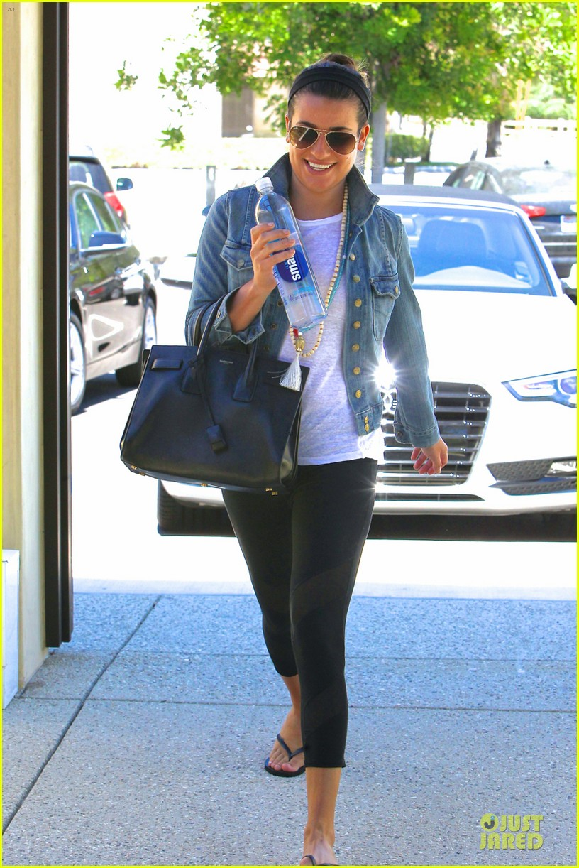 lea michele looks happy to start writing her second book 133177560