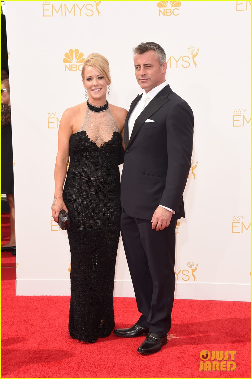 matt leblanc william h macy brings wives to emmys 2014 053183676