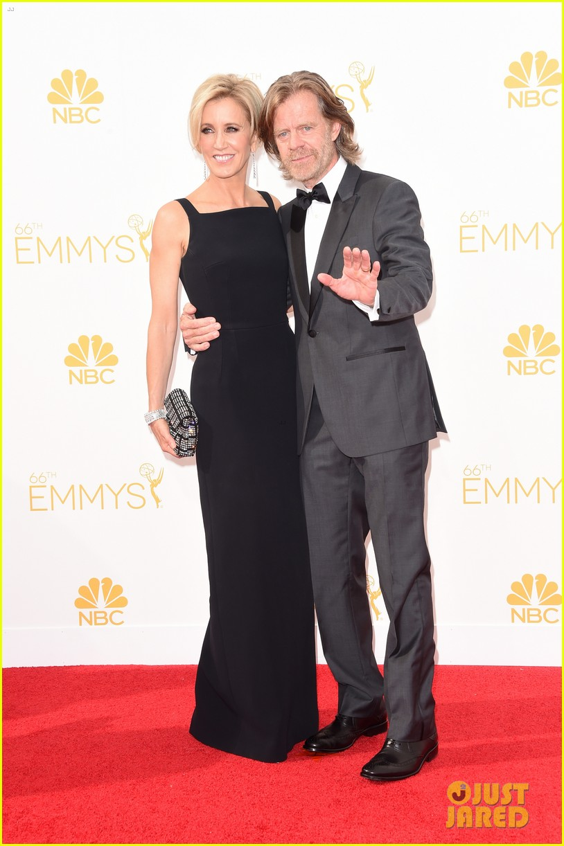 matt leblanc william h macy brings wives to emmys 2014 07
