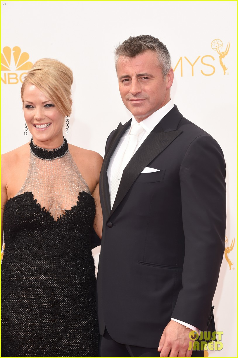 matt leblanc william h macy brings wives to emmys 2014 09