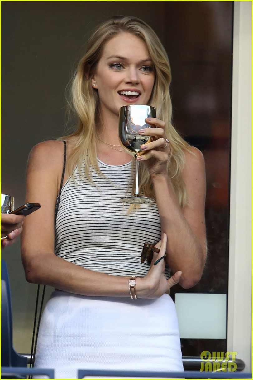 model lindsay ellingson tyson beckford enjoy us open 03