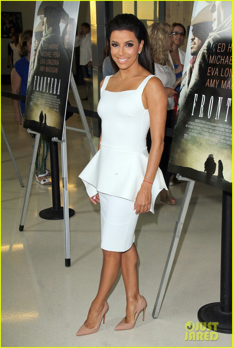 eva longoria is the lady in white at frontera l a premiere 033180796