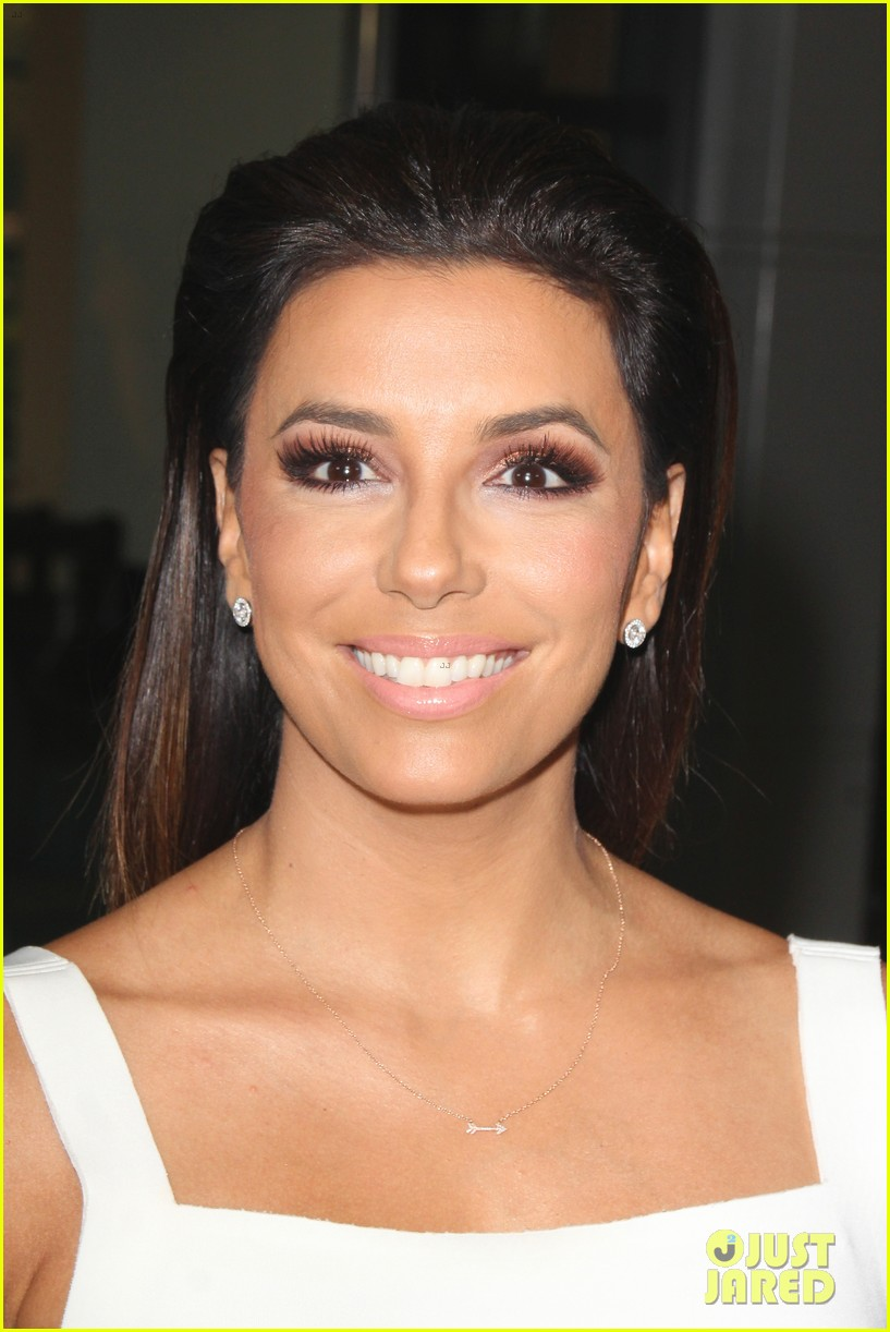 eva longoria is the lady in white at frontera l a premiere 113180804