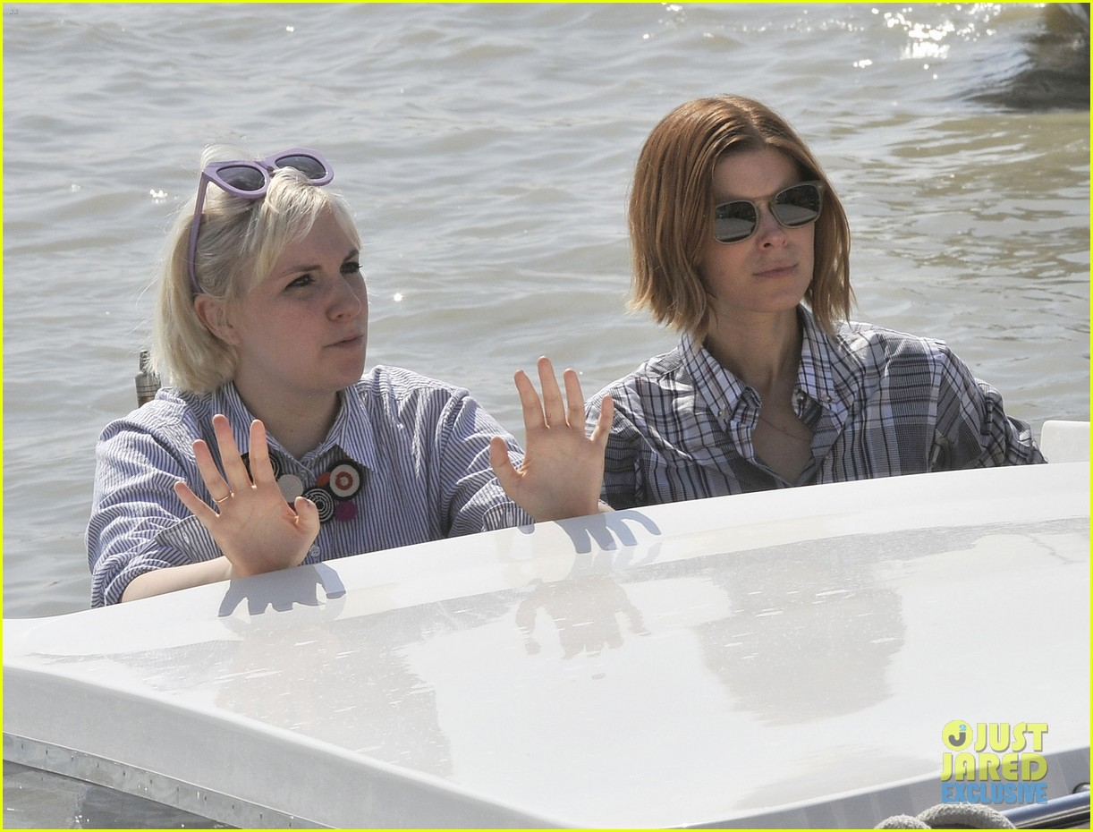 kate mara lena dunham have a load of fun together venice 123185568