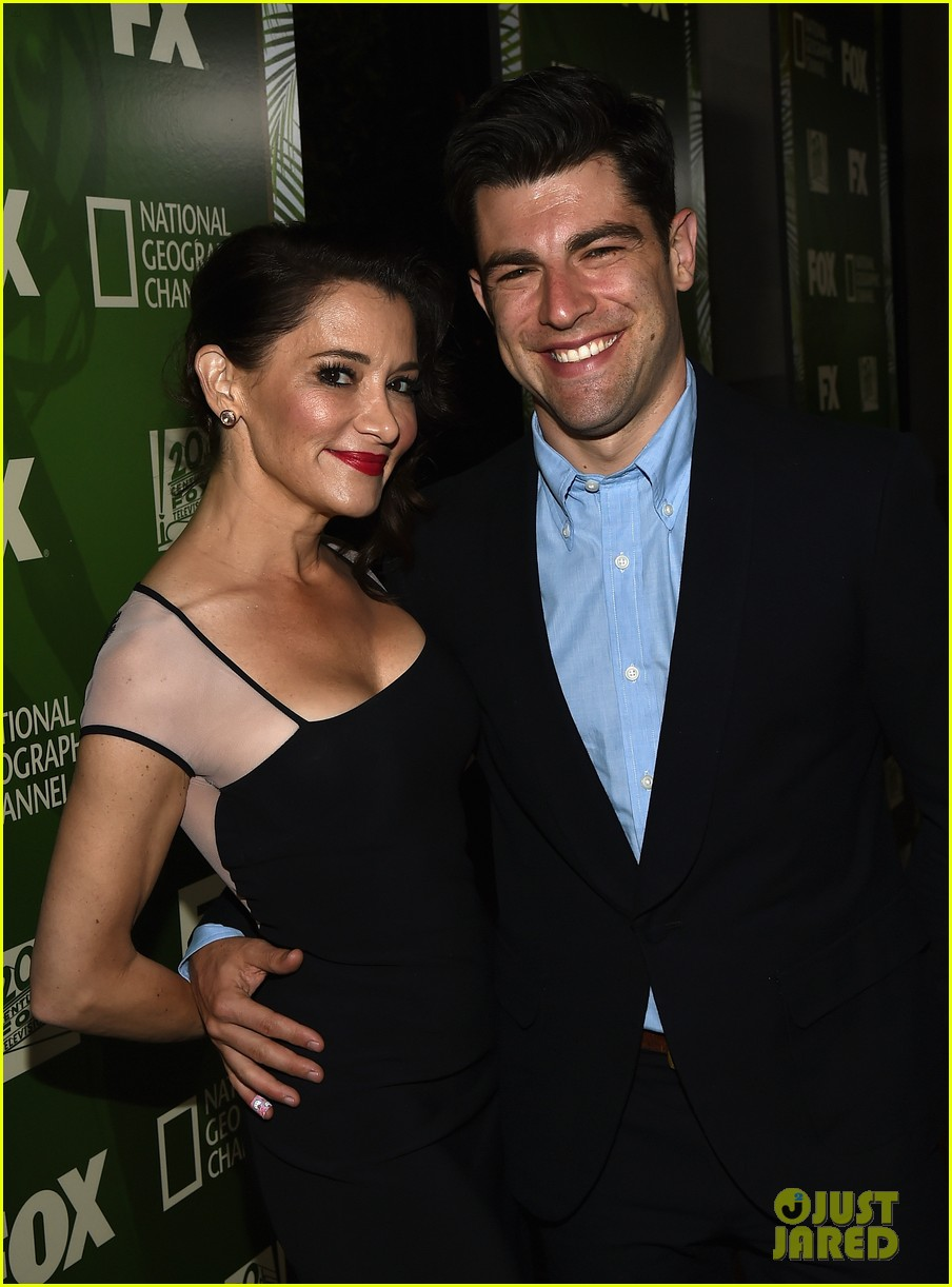 new girls max greenfield brings wife tess sanchez to emmys 2014 after party 023184272