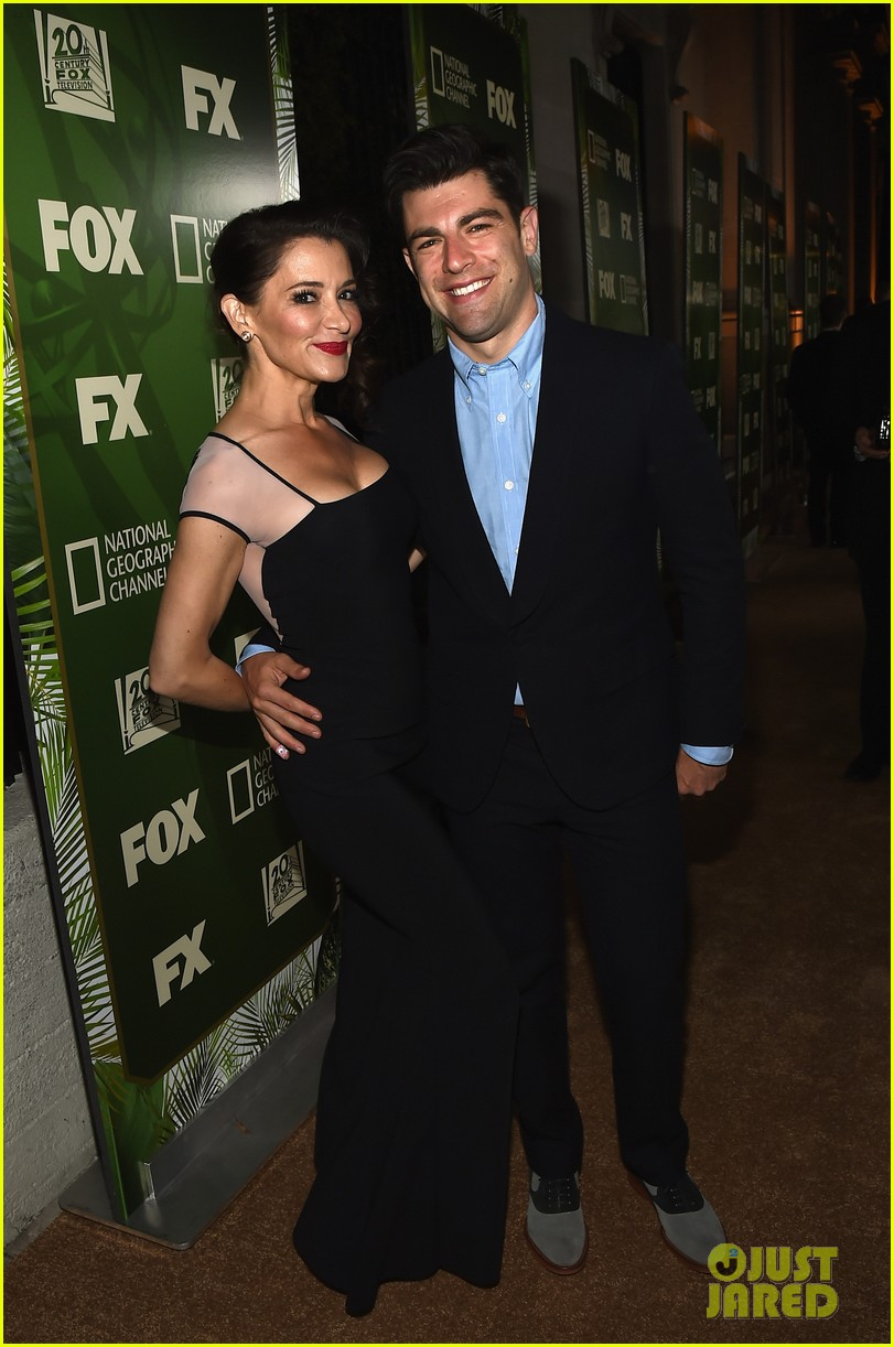 new girls max greenfield brings wife tess sanchez to emmys 2014 after party 033184273