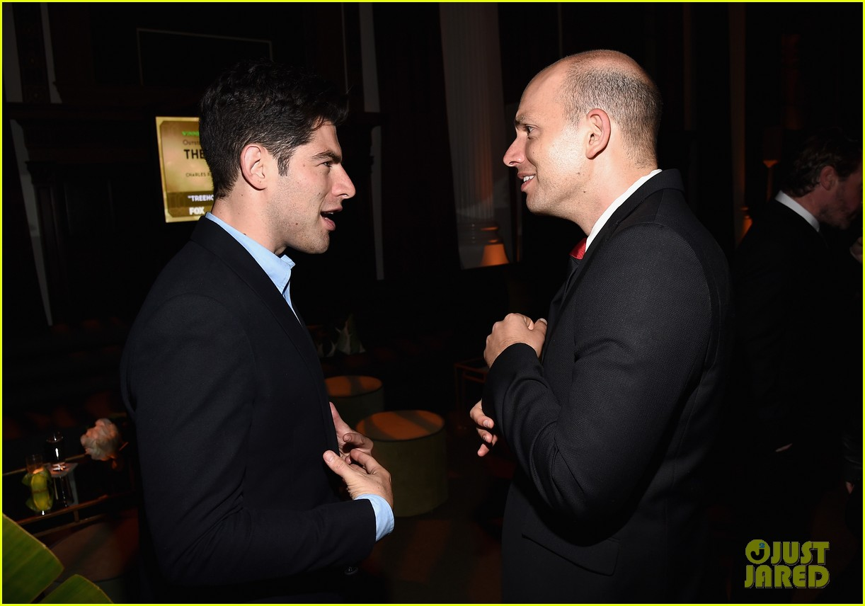 new girls max greenfield brings wife tess sanchez to emmys 2014 after party 053184275
