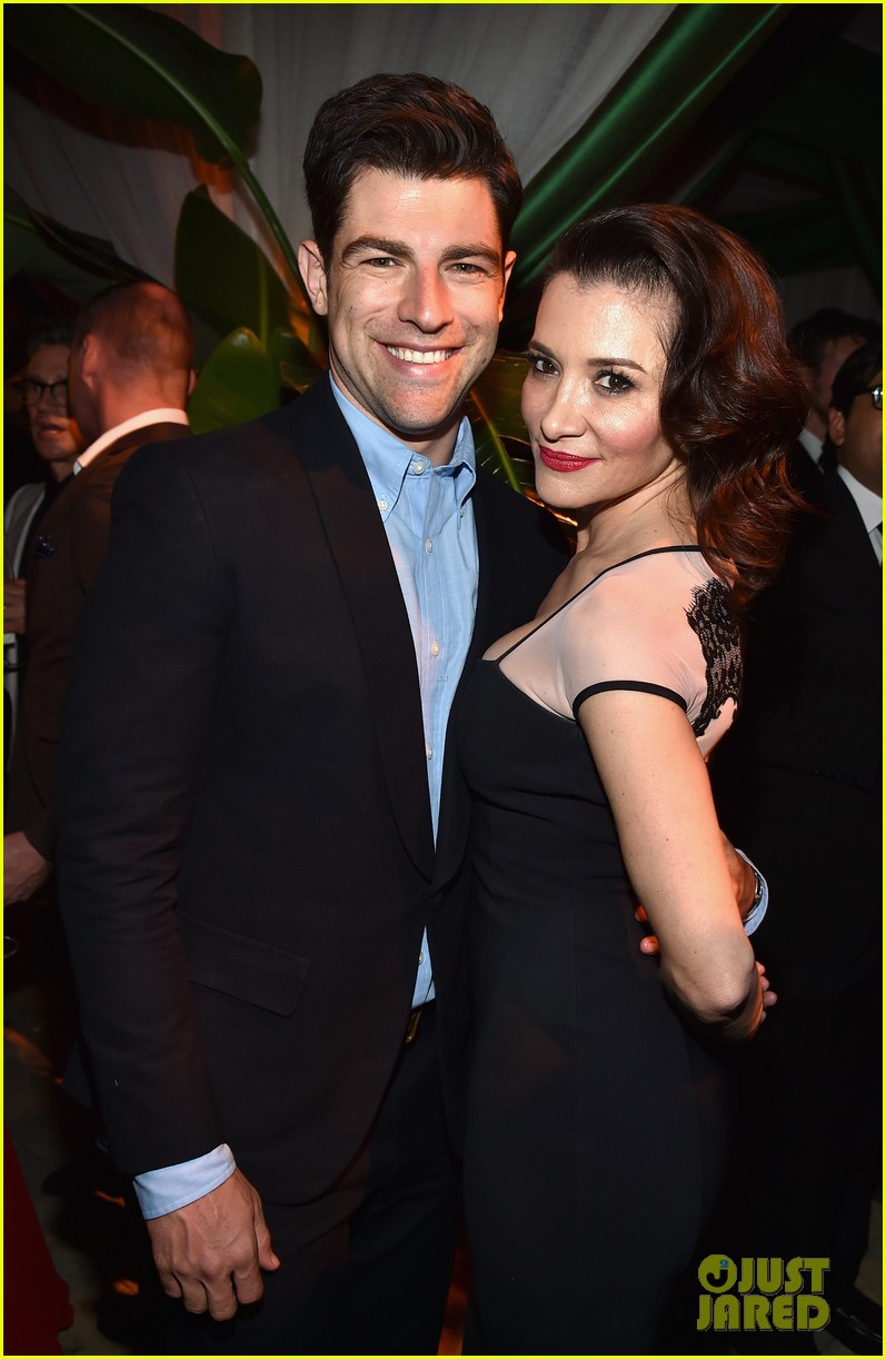 new girls max greenfield brings wife tess sanchez to emmys 2014 after party 063184276