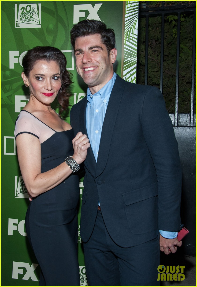 new girls max greenfield brings wife tess sanchez to emmys 2014 after party 073184277