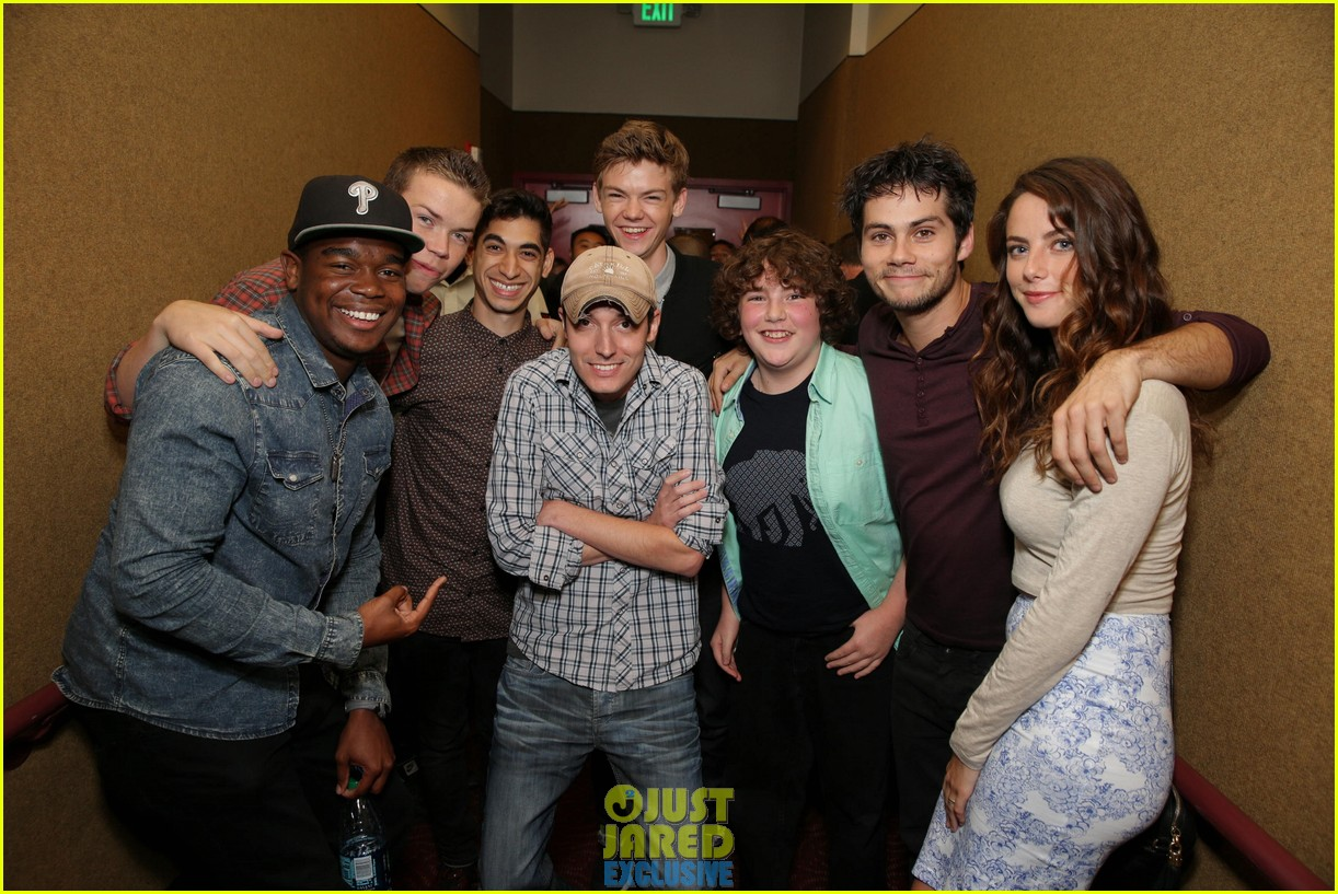 dylan obrien maze runner justjared screening 143182176