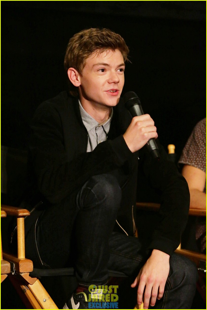 dylan obrien maze runner justjared screening 353182197