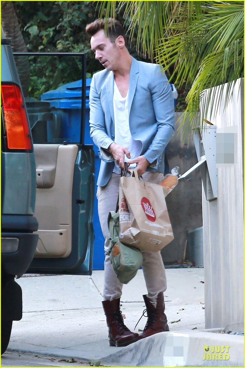 jonathan rhys meyers grabs groceries after another me hits theaters 14