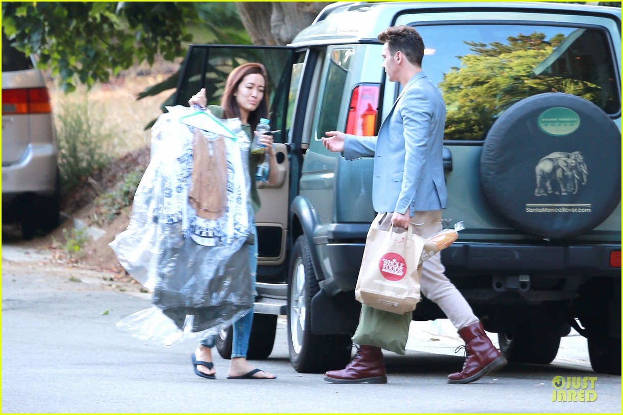 jonathan rhys meyers grabs groceries after another me hits theaters 153181620
