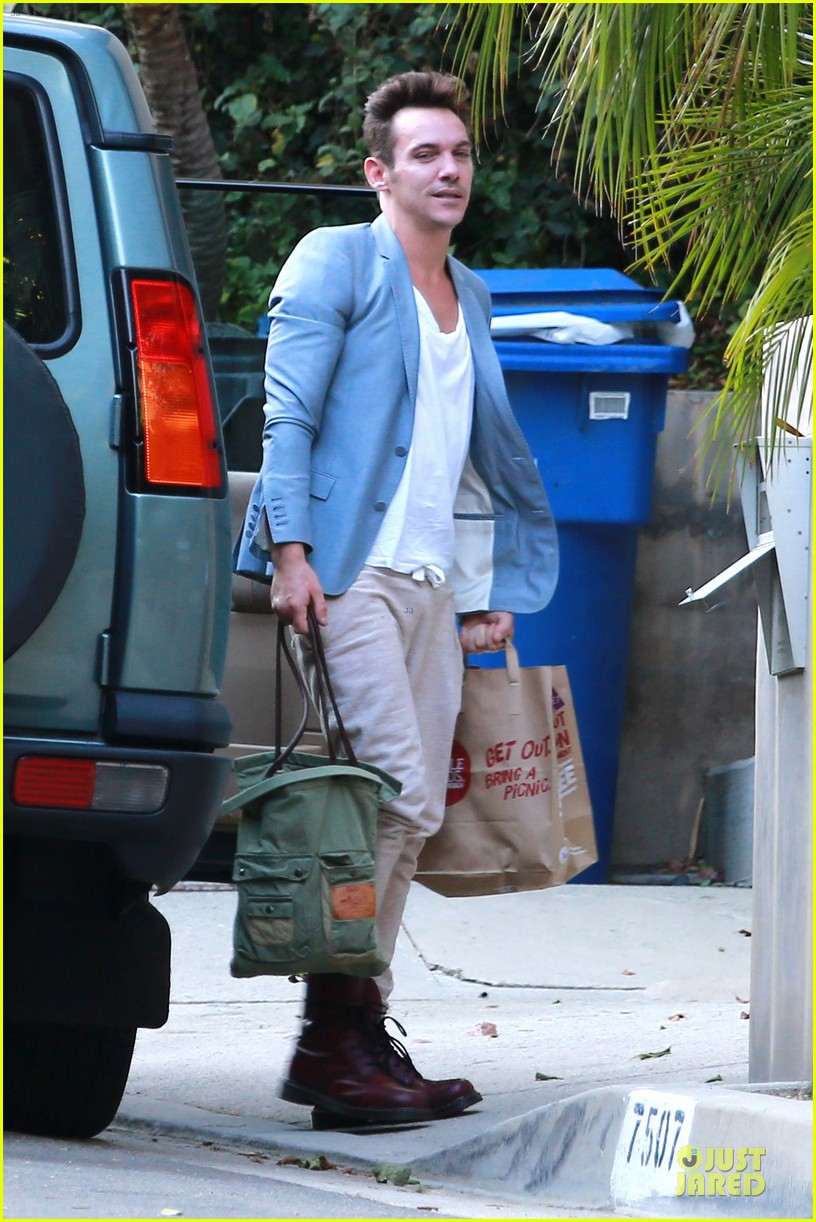 jonathan rhys meyers grabs groceries after another me hits theaters 17