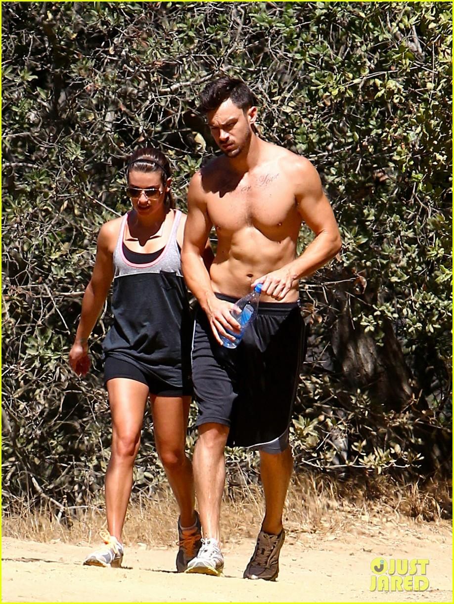 lea michele boyfriend matthew paetz goes shirtless hike 023181825