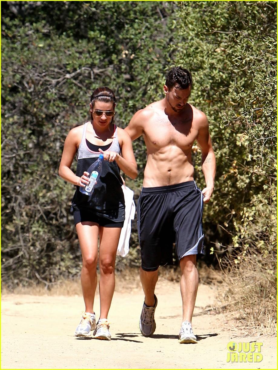 lea michele boyfriend matthew paetz goes shirtless hike 053181828