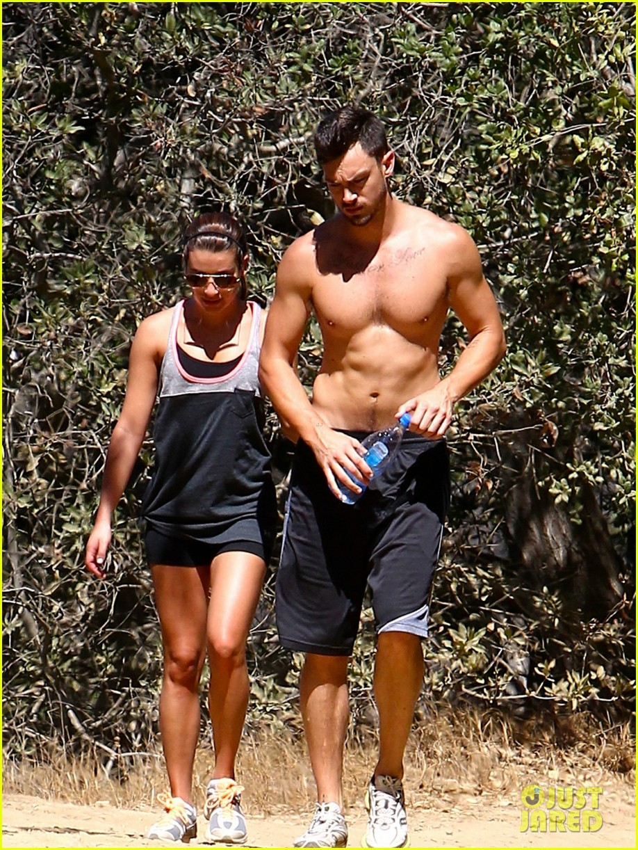 lea michele boyfriend matthew paetz goes shirtless hike 123181835