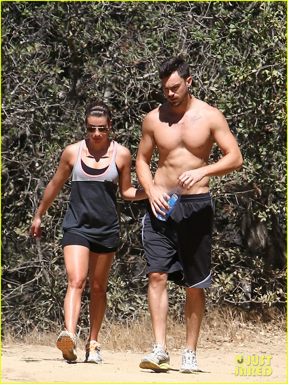 lea michele boyfriend matthew paetz goes shirtless hike 133181836