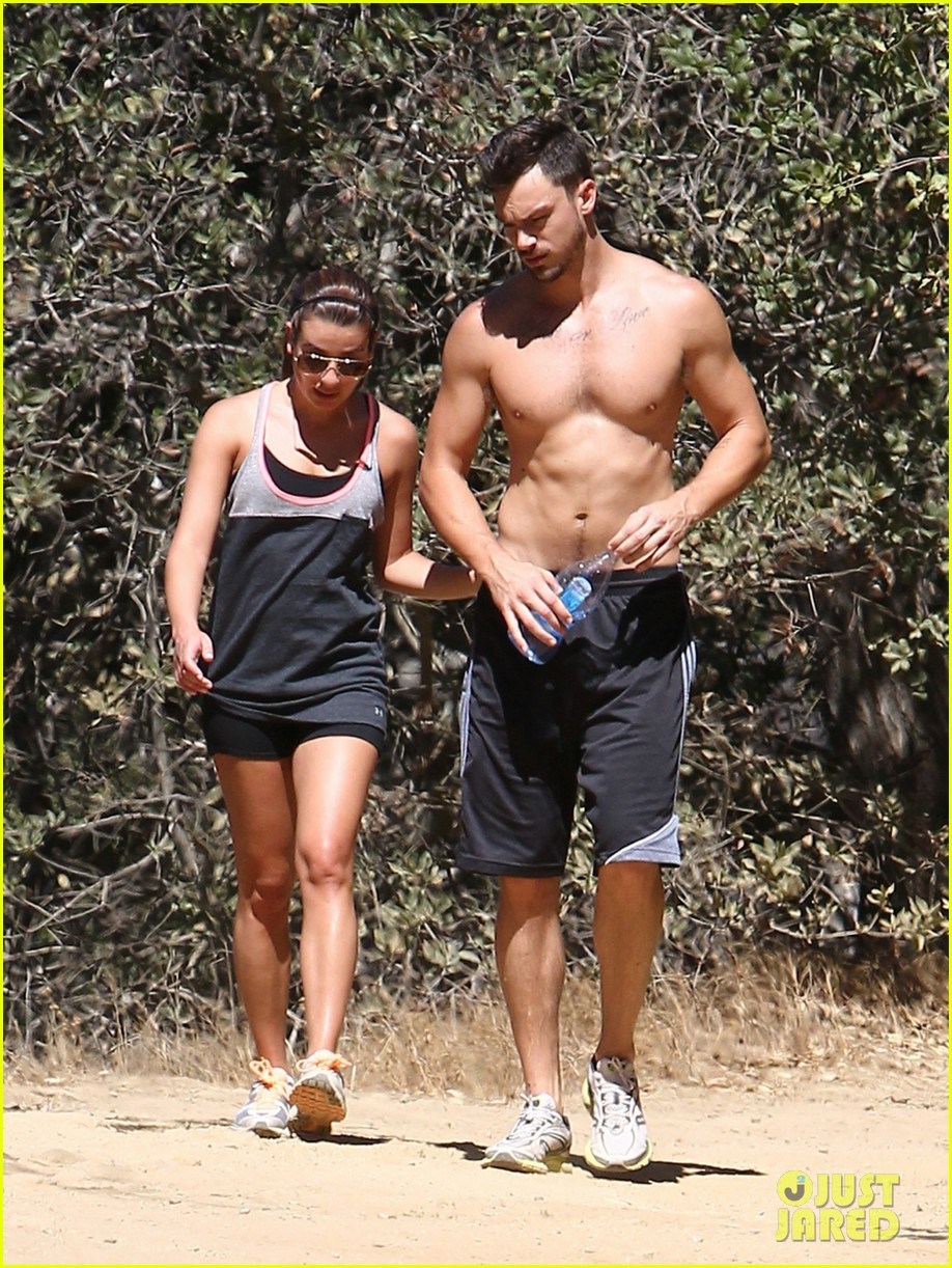 lea michele boyfriend matthew paetz goes shirtless hike 143181837