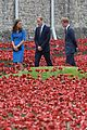 kate middleton prince william visit stunning ceramic poppy installation 16