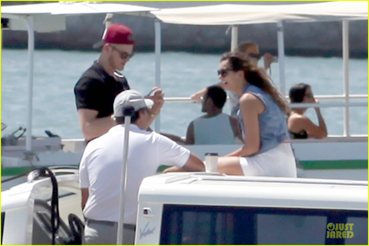 nina dobrev alexander ludwig hang out on yacht 053181238