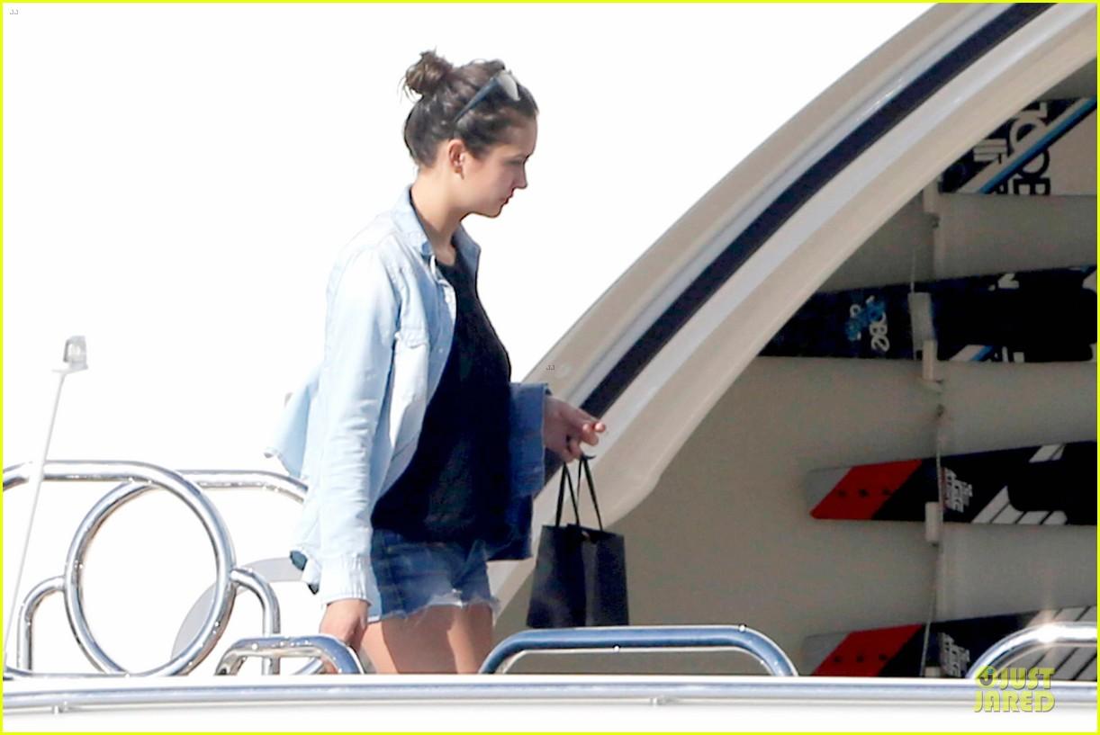 nina dobrev alexander ludwig hang out on yacht 123181245